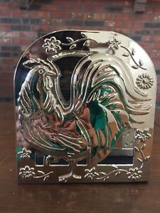 Pfaltzgraff Rooster Meadow Nickel Plated Napkin Holder