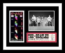 1966 BEATLES *JAPAN* UNUSED CONCERT TICKET & PHOTO DISPLAY