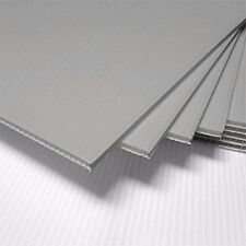 "50 pcs 18x24"" Plastic COROPLAST 4mm SILVER Yard Art Sign Board Blank Sheets"