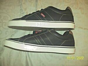 LEVI'S Turner Sneakers/Shoes Man Made Upper Men's Size 11 M  Black/Tan NIB