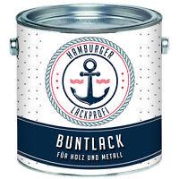 Buntlack Glänzend Holz & Metall Anthrazitgrau RAL 7016 Rostschutzfarbe Grau HLP