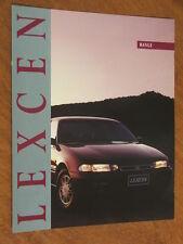 1993 Toyota Lexen range original Australian large format foldout brochure