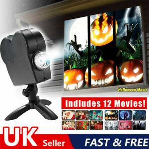 Christmas Window Projector Santa Festival Movies Display Christmas Lamp Light