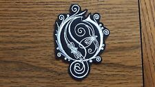 OPETH LOGO,IRON ON WHITE EMBROIDERED PATCH