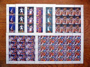 St VINCENT BEQUIA Wholesale Tennis 8 Values in Sheetlets of 20 U/M NB813