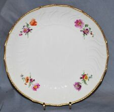 Bowl KPM Berlin, Neuosier, Flower Painting, Toothed Gold Rim, 20 cm, 1.Wahl, Old