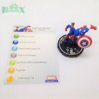 Heroclix Avengers set Cap and Bucky #060 Super Rare figure w/card!