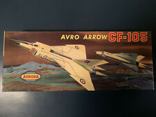 Mint vintage Aurora 1958 Avro Arrow model kit decals instructions