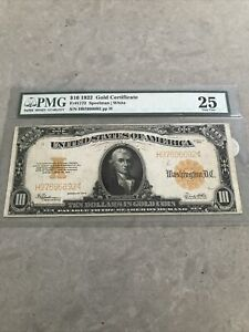 1922 $10 Gold Certificate PMG 25 FR# 1173 *3 DAY AUCTION ONLY*