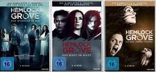 10 DVDs * HEMLOCK GROVE - STAFFEL 1 + 2 + 3 IM SET -  Bill Skarsgard # NEU OVP $