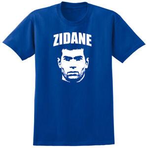 Zidane Football Icon T-shirt - Classic Retro France Madrid Fan Tee Shirt