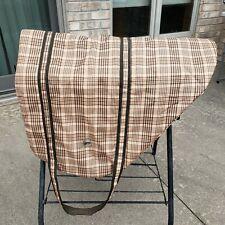 Defender English saddle bag carrier with handles - Brown plaid