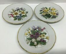 St. Martin Email de Limoges Set of 3 Decorative Collector Plates