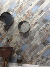 Reclaimed Rustic Blue Wood Effect Porcelain Wall/Floor Tile 15 x 60cm