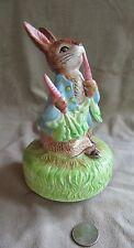 "1977 Beatrix Potter Schmid Peter Rabbit ""It's A Small World"" Music Box Vintage"