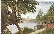 Herefordshire Postcard - Hereford Cathedral from River Walk   U508