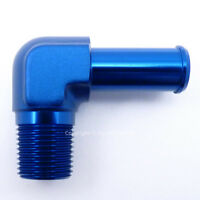 1/2 NPT to 15mm 16mm (5/8) 90 DEGREE ELBOW PUSH ON BARB TAIL Hose Fitting
