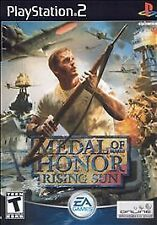 PS2 Medal of Honor Rising Sun  Sony PlayStation 2  instructions game and case