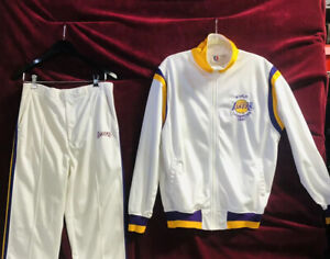 Vintage 1987 Los Angeles Lakers World Champion Starter Brand Track Suit Rare Nba