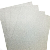 10 A4 SILVER TOTAL NON SHED VERY GLITTERY/SHIMMER CARD, WHITE BACKED APP 250GSM