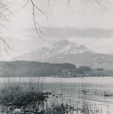 LUCERNE c. 1955 - Panorama Bateau à Vapeur Lac des 4 Cantons  Suisse - Div 11972