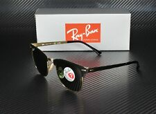 RAY BAN RB3716 187 58 Clubmaster Black Polarized Green 51 mm Unisex Sunglasses