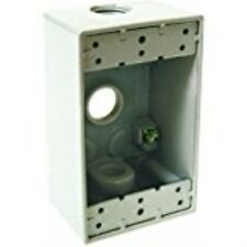 Hubbell-Bell 5320-1 Single Gang 3-1/2-Inch Outlets Weatherproof Box