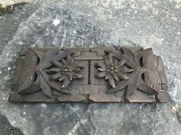 Antique Black Forest Style Carved Wooden Book Slide - Grindelwald