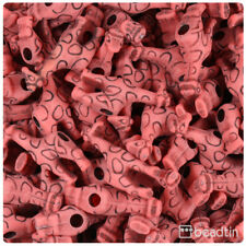 BeadTin Bright Red Antique 26mm Giraffe Pony Beads (24pcs)