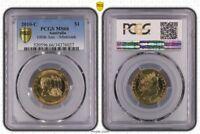 "2010-C AUSTRALIA $1 DOLLAR""100TH ANN.MINTMARK"" BU PCGS MS66 ONLY 1 GRADED HIGHER"