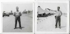 2 Original WWII Photographs of Cpl Roger G Butler Killed in France July 30 1944