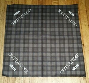 "Starz OUTLANDER Promotional Plaid Bandanna 21""x21"" Perfect for Custom Mask"