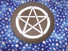 PENTAGRAM PENTACLE---METAL CANDLE HOLDER/BURN PLATE---Wicca Religion