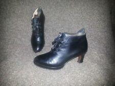 MAUD FRIZON PARIS-VINTAGE Low Heel Bootie-Black Leather-Sz 5.5-Excellent