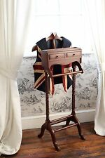 Solid Mahogany Gentleman's Valet Stand Antique Reproduction NEW PST008