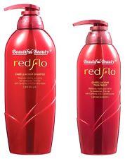 SOMANG REDFLO CAMELLIA HAIR SHAMPOO 750ml + TREATMENT 500ml SET (US SELLER)