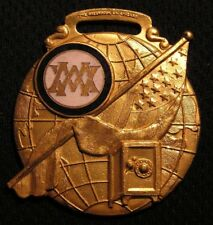 Antique Mystic Workers Of The World Watch Fob Medal Old Vintage Fraternal Nice!