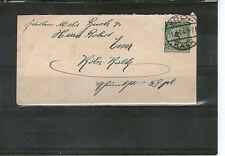 MINI Lettera Deutsches Reich 1924 andate colonia calce EF MiNr. 339 cartellino fabbisogno