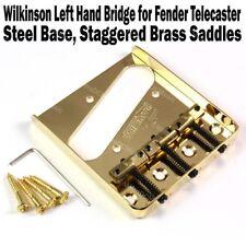 Wilkinson Lefty Gold Telecaster Bridge Brass Saddles Tele Left Hand WTBGD LH