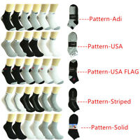 New 6-12 Pairs Men's Ankle Socks Cotton Low Cut Casual Size 9-11 10-13