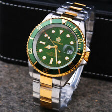 REGINALD SUBMARINER HOMAGE DIVER STYLE Luxury Quartz Watch Green Gold Miyota