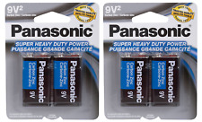 4 PCS Panasonic 9 Volts 9V Battery Batteries Super Heavy Duty Zinc Carbon EX2022