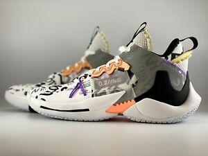 Nike Jordan Why Not Zer0.2 Mens Basketball Shoes Size 9.5 Orange Pulse AQ3562101