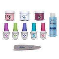 Gelish Soak Off Acrylic Powder Nail Dip Manicure Color Set with Harmony Buffer
