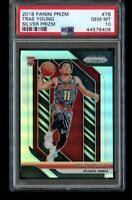 2018-19 Panini Prizm Trae Young Silver Rookie #78 PSA 10 Gem Mint RC Hawks