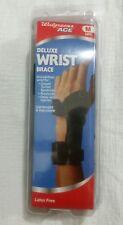 NIP Walgreens Ace Deluxe wrist brace size med. left hand, adjustable, latex free