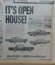1964 newspaper ad for Mercury - Park Lane Breezeway & Marauder des., Caliente +