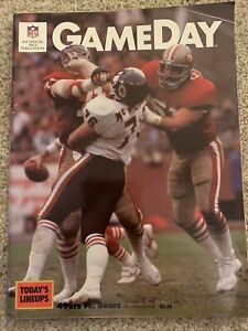 Game Day Magazine  October 1985 SF 49ERS VS  CHICAGO BEARS