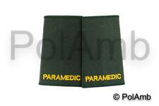 PARAMEDIC Epaulettes Ambulance Medic Officer Epaulette Slides Sliders Badges