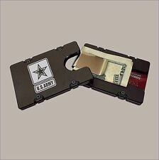 US ARMY Billet Aluminum Wallet with removable Money Clip